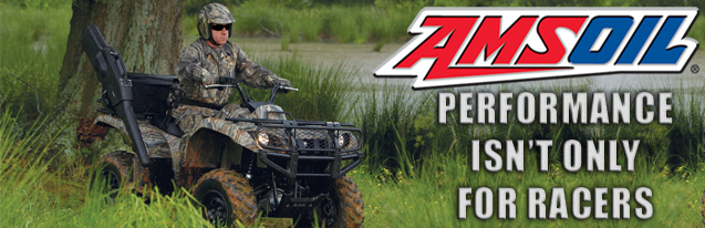 AMSOIL, for ATV, motorcycle and dirt bike use.